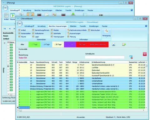 Schrankverwaltung Software Modulsystem Krankenhaus